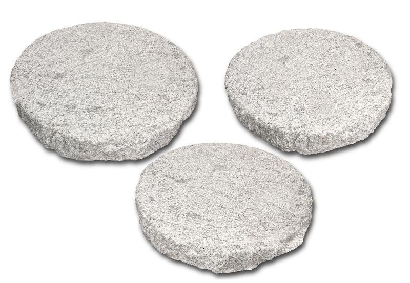 trittplatten rund granit grau eberhart stone group. Black Bedroom Furniture Sets. Home Design Ideas