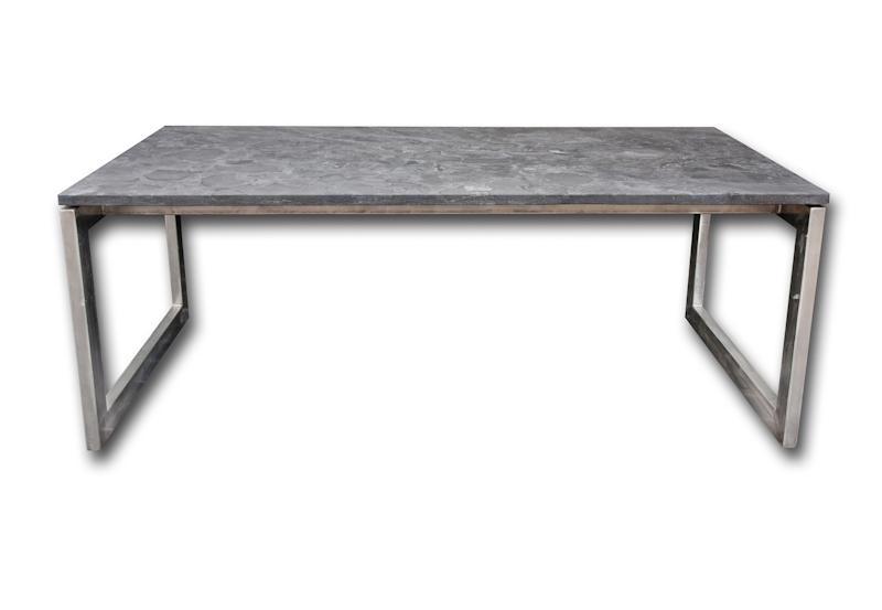 Table Blue Stone support inox